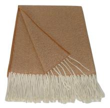 "Granite Woven Melange Alpaca Blanket 60"" x 84"" Soft and Light"