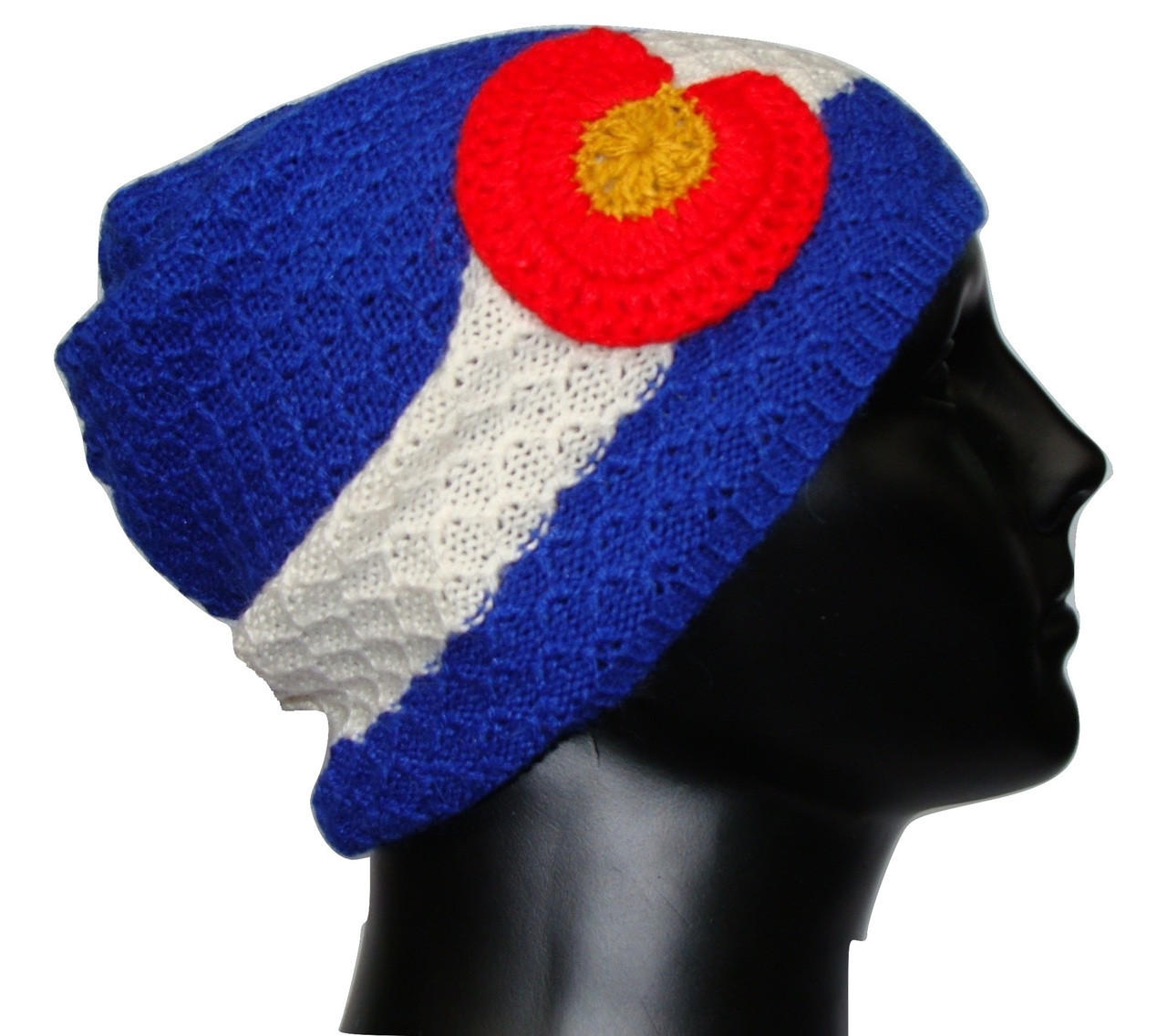 Beanie Colorado Flag Hand Knit 100% Alpaca Artisan Made Fine Warm ... 71d970e7f