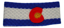Hand knit Colorado Flag Headband 100% Alpaca Artisan made