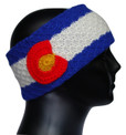 Headband artisan made 100% Alpaca Peru Colorado Flag Design