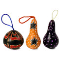 Gourd Star Ornament Drops Multicolored 3""