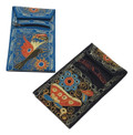 """Cell Phone Pouch Purse Wallet with String Zippered 3.5"""" x 7"""""""