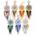 Dream Catcher Ornaments with Glass Beads and Crystals 4""