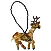 Christmas Reindeer Glass Beads Guatemala