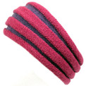 100% Alpaca Headband Pleated Two Tone Adult Size Stretchable
