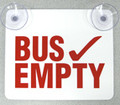 BE-1,  Bus Empty Sign with Suction Cups