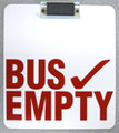 BE-M,  Bus Empty Sign - Magnetic