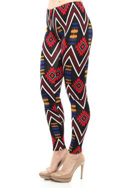 Tribal Pulse Hacci Leggings