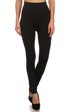 Banded High Waisted Fleece Lined Leggings