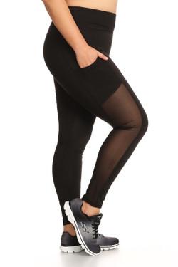 Black In Motion Women's  Sport Leggings - Plus Size