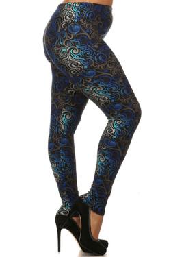 Hypnotic Swirl Plus Size Leggings