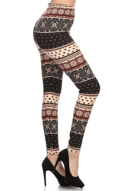 Burgundy Frost Leggings