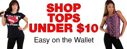 Women's Tops Under $10
