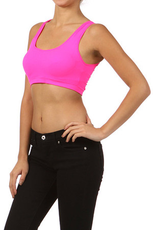 Scoop Back Padded Sports Bra