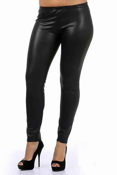 Matte Faux Leather Leggings Plus Size Onlyleggings Com