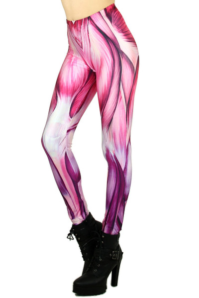 Pink Toned Muscle Leggings
