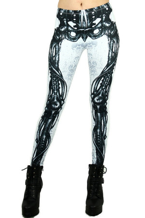 White Bionic Skeleton Leggings
