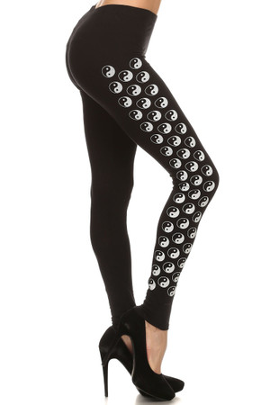 Ying Yang Cotton Leggings