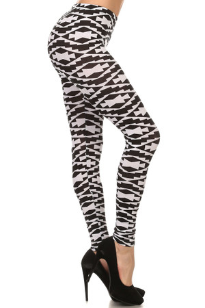 Black and White Navajo Leggings