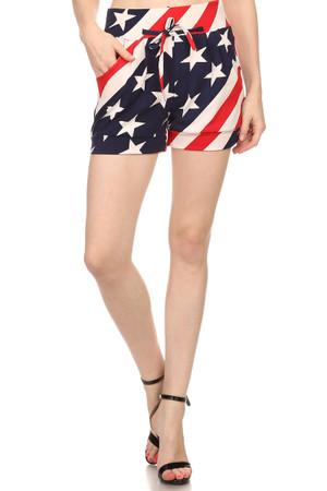 Casual Comfy USA Flag Shorts