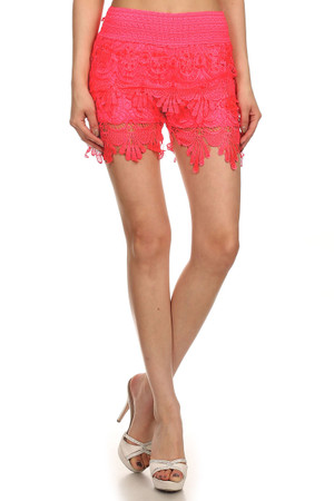 Summer Lace Scalloped Shorts