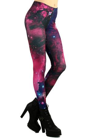 Mixed Berry Galaxy Leggings