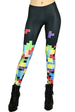 Retro Tetris Leggings - Plus Size