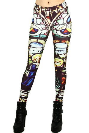 Mosaic Glass Leggings - Plus Size