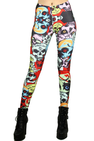 Gargantuan Skull Leggings - Plus Size