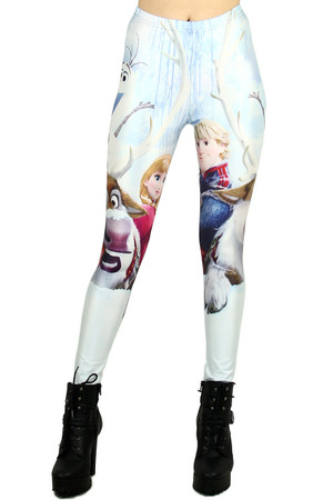 Anna and Kristoff Leggings - Plus Size