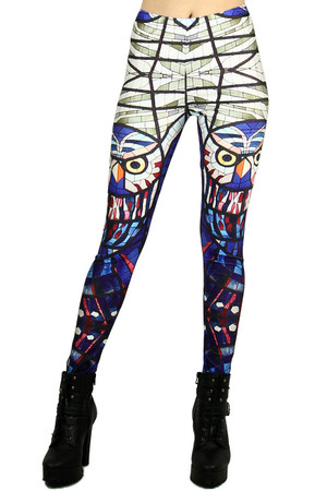 Mosaic Owl Leggings - Plus Size
