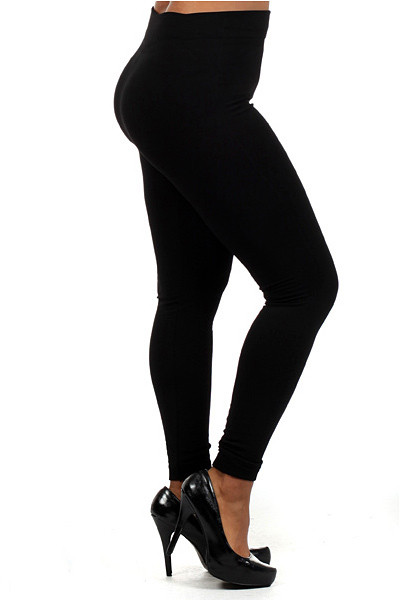 Thick Black Leggings Plus Size