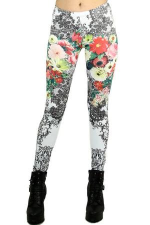 Lace Flower Blossom Leggings