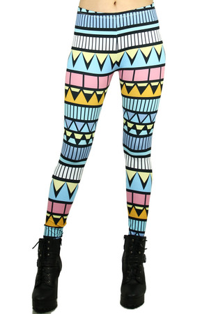 Pastel Summer Tribe Leggings
