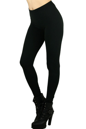 Black Basic Milk Silk Leggings