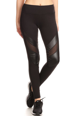 Cruiser Mesh Women's  Sport Leggings with Sheen