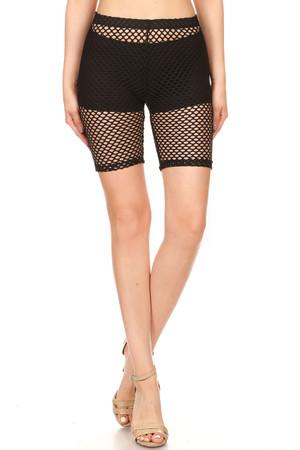 Black Mesh Shorts