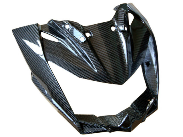 front fairing in carbon with fiberglass for kawasaki z750. Black Bedroom Furniture Sets. Home Design Ideas
