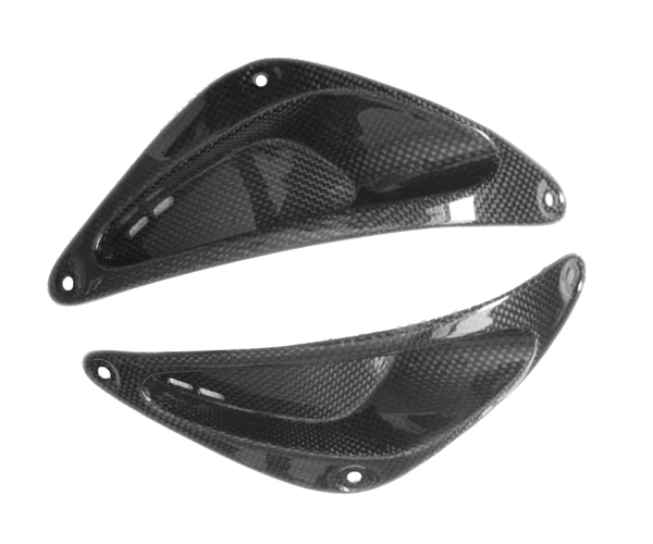 Frame Inserts in Carbon with Fiberglass for Yamaha R6 1999-2002