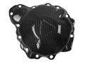 Clutch Cover in Glossy Twill Weave Carbon Fiber for Triumph Speed Triple 1050R 2016+