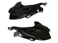 Upper Fairings in Glossy Twill Weave Carbon Fiber for Kawasaki Z900 2017+