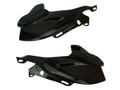 Headlight Fairings in Glossy Twill Weave Carbon Fiber for Kawasaki Z900 2017+