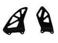 Heel Plates in Glossy Twill Weave Carbon Fiber for Suzuki GSX-R1000 2017+