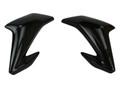 Upper Side Panels in Glossy Plain Weave Carbon Fiber for Kawasaki Z900