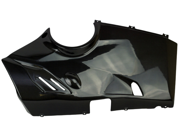 Belly Pan For Full Exhaust System In Carbon With Fiberglass For