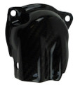 Small Exhaust Guard in Glossy Twill Weave Carbon Fiber for Yamaha FZ-10-MT-10