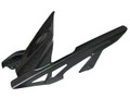 Glossy Plain Weave Carbon Fiber Rear Hugger with Chainguard for Kawasaki Z 1000 2010+