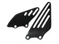 Glossy Plain Weave Carbon Fiber Heel Plates for Kawasaki ZX14/ZZR1400 06+
