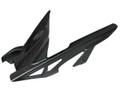 Glossy Plain Weave Carbon Fiber Rear Hugger with Chainguard for Kawasaki Z 1000 2010-13