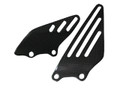 Glossy Plain Weave Carbon Fiber Heel Plates for Kawasaki ZX14/ZZR1400 06+